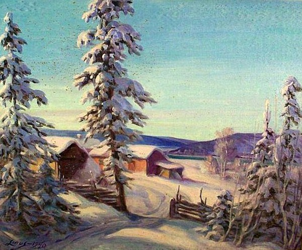 Ranch In Winter - Winter Landscape With Farmhouse