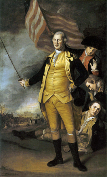 George Washington At The Battle Of Princeton