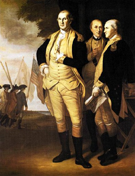 George Washington, Lafayette And Tilgham At Yorktown