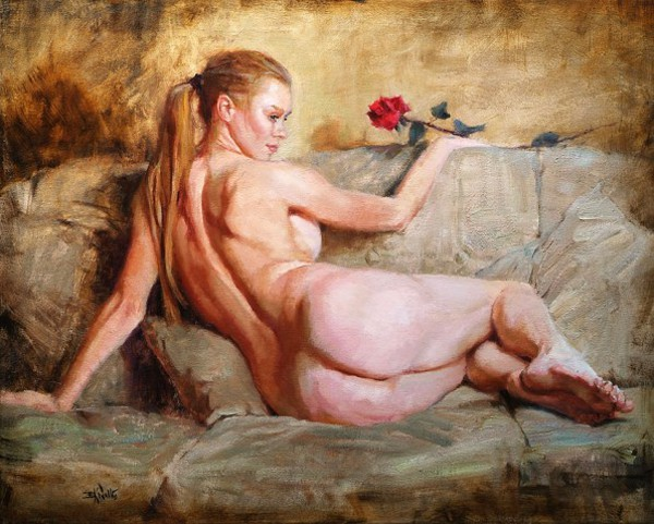 Nude With A Rose