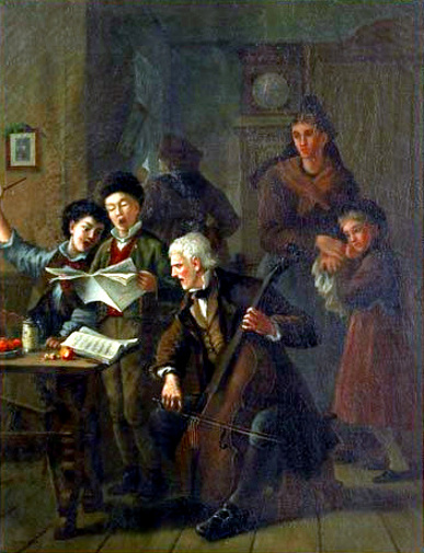 Interior Scene Of A Family