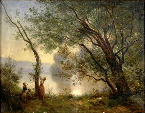 Landscape With Mother And Children