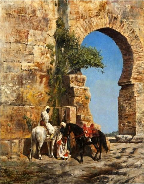 Horsemen Waiting At The Gate
