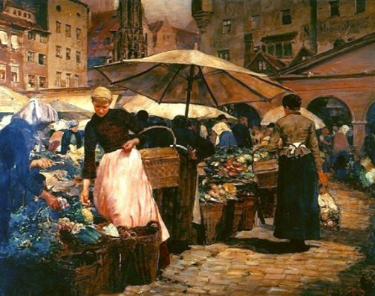 Market Day At Nuremberg