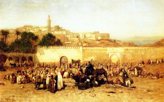 Market Day Outside The Walls Of Tangiers, Morocco