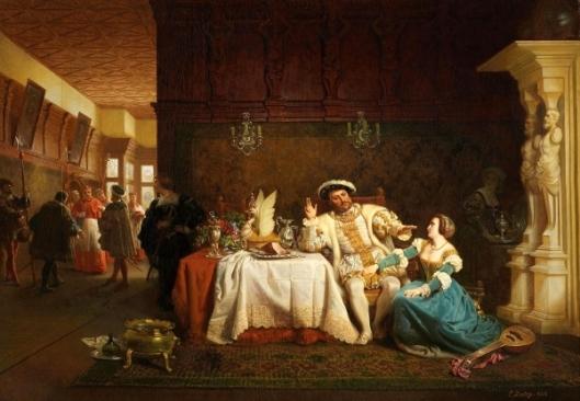Anne Boleyn Persuading King Henry VIII To Dismiss Wolsey