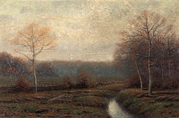 Autumn Landscape With Stream