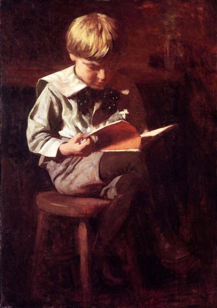 Boy Reading - Ned Anshutz