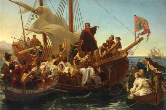 Departure Of Columbus From Palos