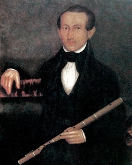 Gentleman Holding Oboe