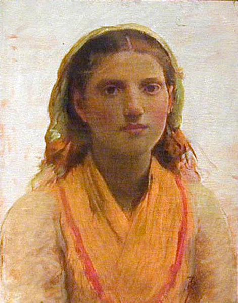 Girl With Orange Shawl