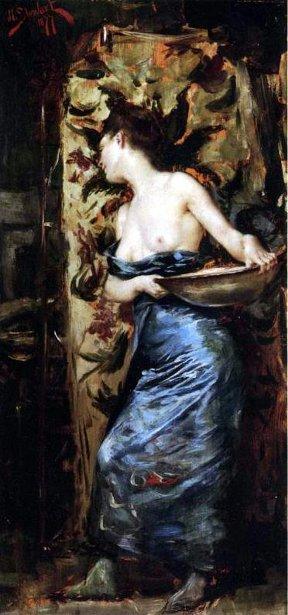 Half-Naked Woman