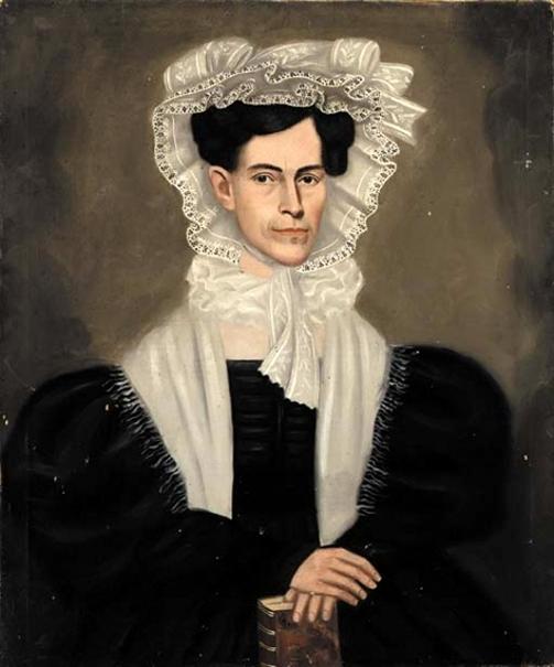Lady In Fancy Bonnet