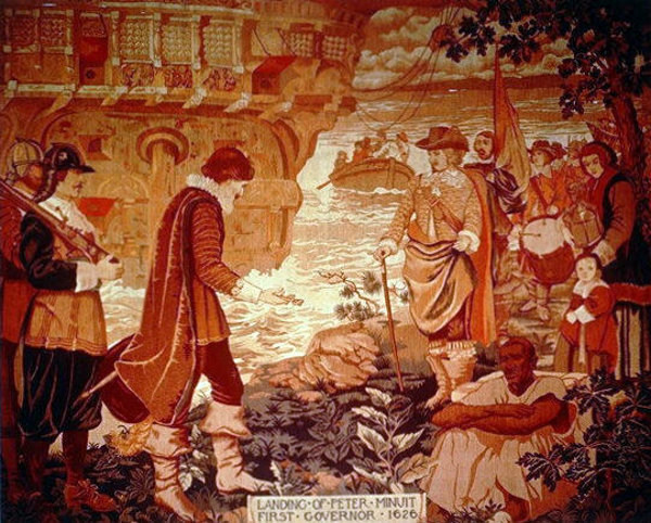 Landing Of Peter Minuit, First Governor, 1626