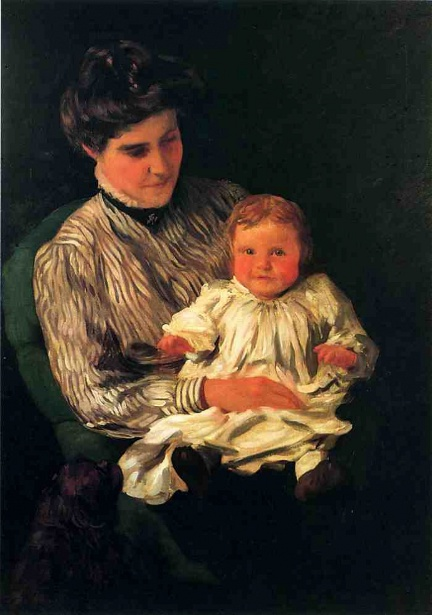 Mrs. Anshutz And Her Son Edward