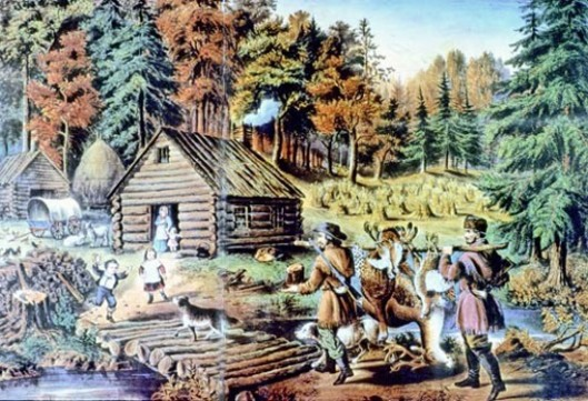 Pioneer's Home On The Western Frontier