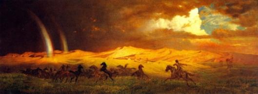 Prairie Bluffs At Julesburg, South Platte - Storm At Sunset