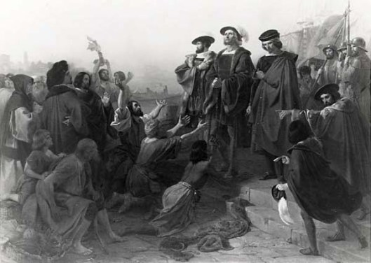 Return Of Columbus In Chains To Cadiz