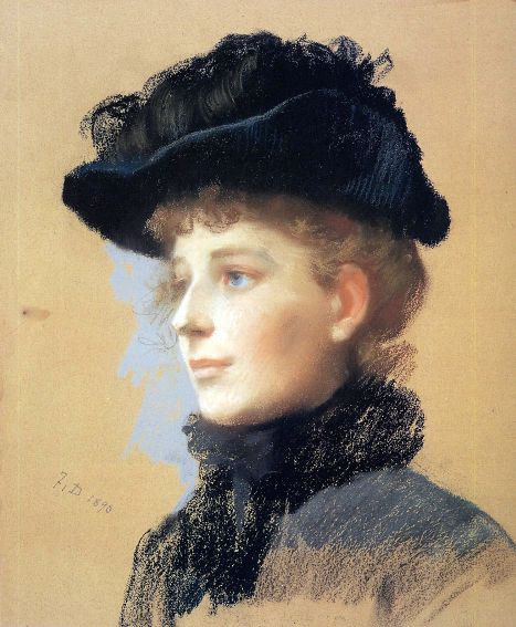 portrait-of-a-woman-with-black-hat