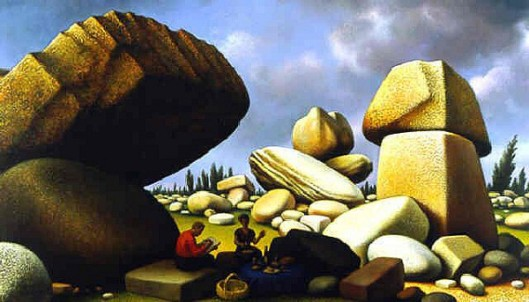 Study Of Boulders Of Avila