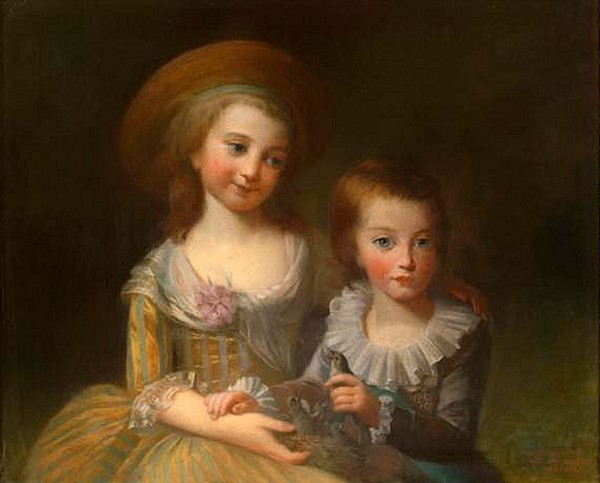 Two Young Girls With Bird's Nest