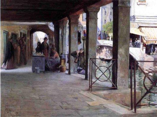 Venetian Market Scene