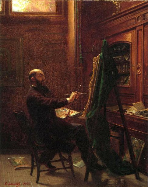 Worthington Whittredge In His Tenth Street Studio