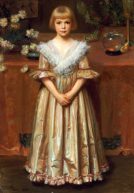 Young Girl - Girl With A Goldfish Bowl