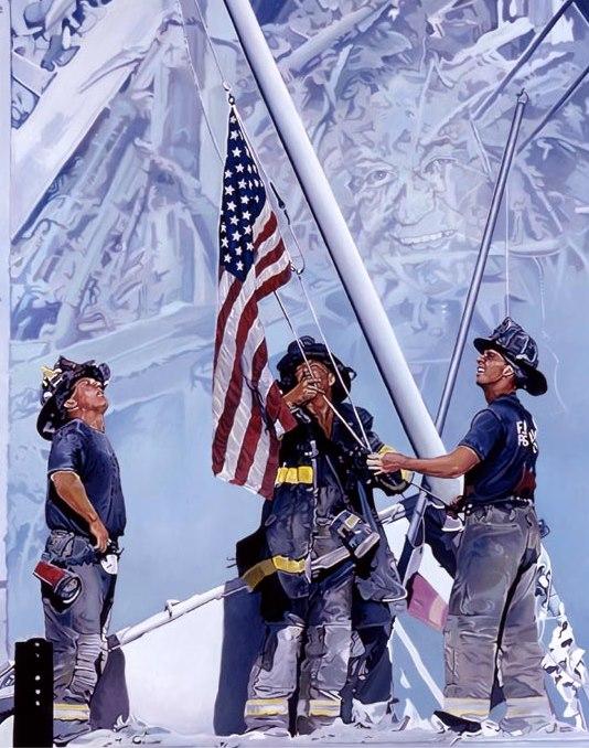 Firefighters Flagraising