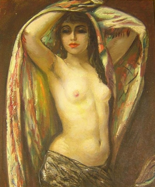 Nude With Shawl