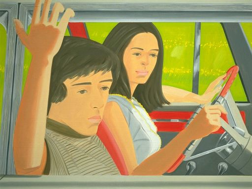Ada and Vincent In The Car