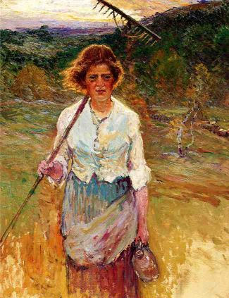 woman-with-a-rake