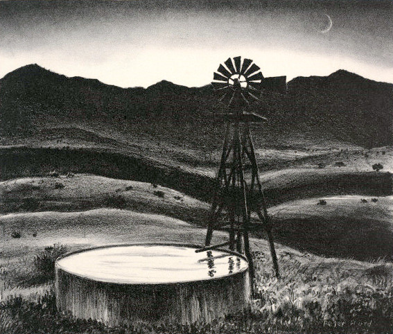 windmill-well-at-night