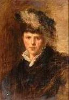 Elegant Woman With Feathered Hat