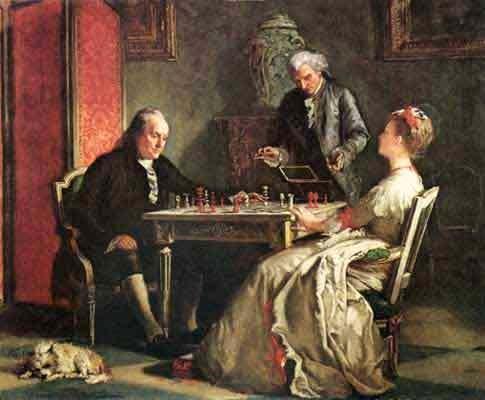 Lady Howe Ben Franklin