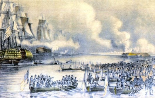 Landing of the American Forces Under Gen.Scott At Vera Cruz, March 9th, 1847