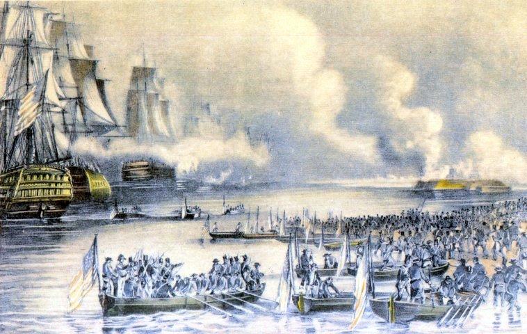 Landing of the American Forces Under Gen.Scott At Vera Cruz, March 9th, 1847