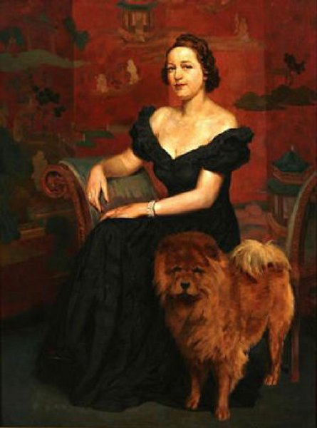 Portrait Of A Woman And Dog