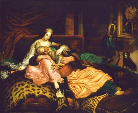 Interior Scene With Sultan And Concubine