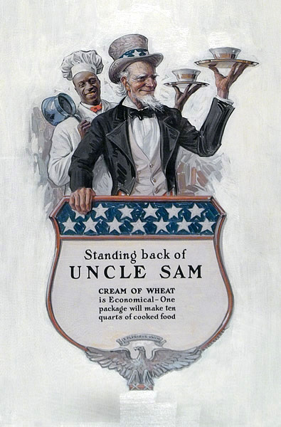 Standing Back of Uncle Sam