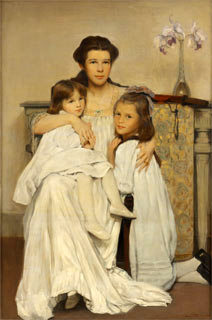 The Artist's Wife And Daughters