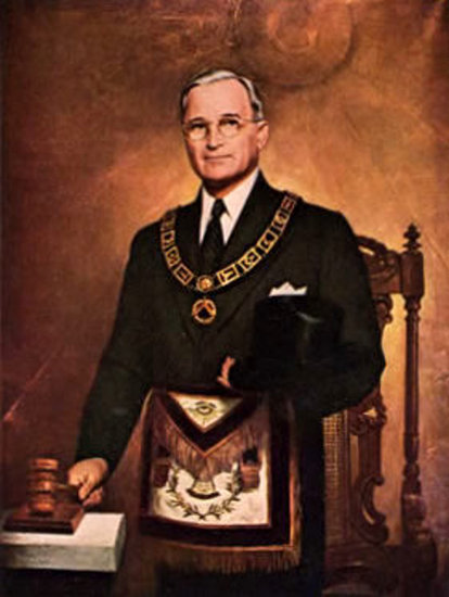 Truman In Masonic Regalia