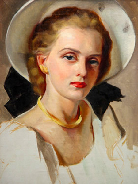 White Hat With Black Bow