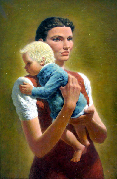 Woman Holding Child