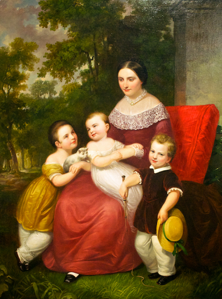 Ellen Almira Low And Her Three Children