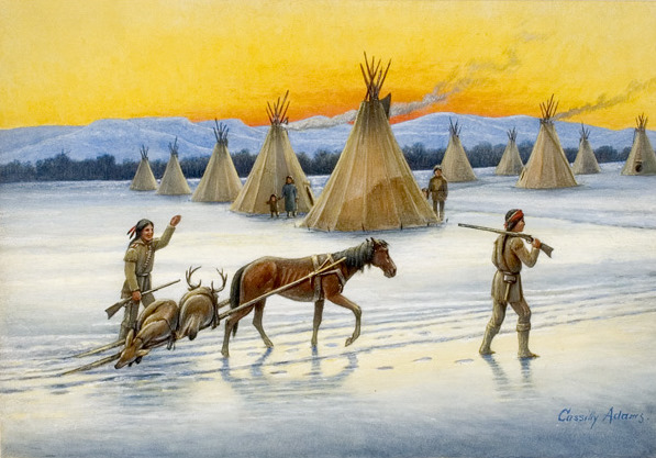 Indians Returning From The Hunt
