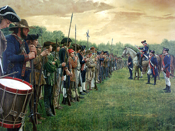 Reading The Declaration of Independence to the Troops