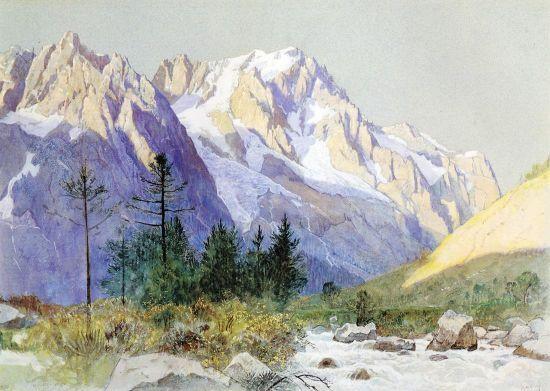 Wetterhorn From Grindelwald, Switzerland