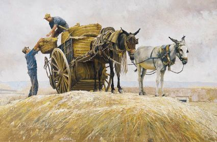 small_Wheat Harvest, Spain
