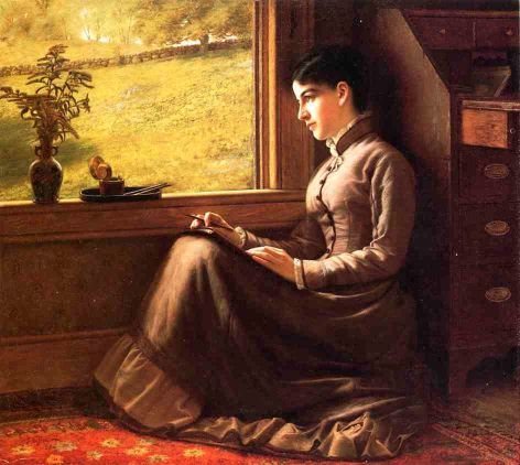 Young Woman Seated At The Window